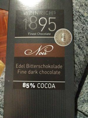 Weinrich's 1895 Noir 85% Cocoa
