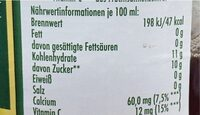 Starke Früchtchen - Valori nutrizionali - de