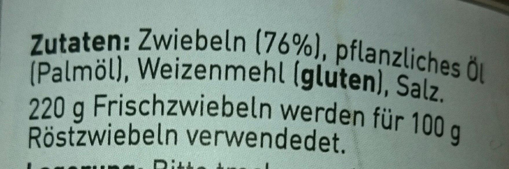 Röstzwiebeln - Ingrediënten