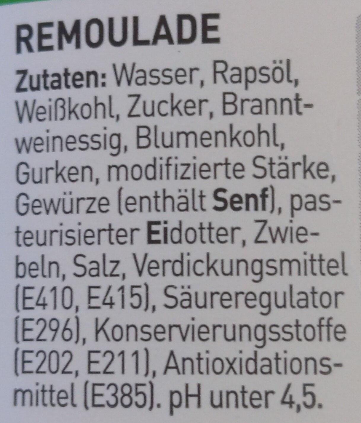 Remoulade Dänischer Art - Ingredients - de
