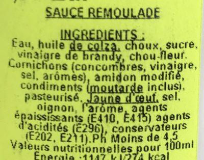 Remoulade - Ingredients