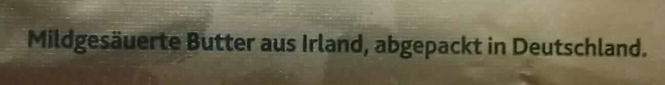 Original Irische Butter - Ingrediënten - de