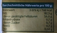 Original Irische Butter - Voedingswaarden - de