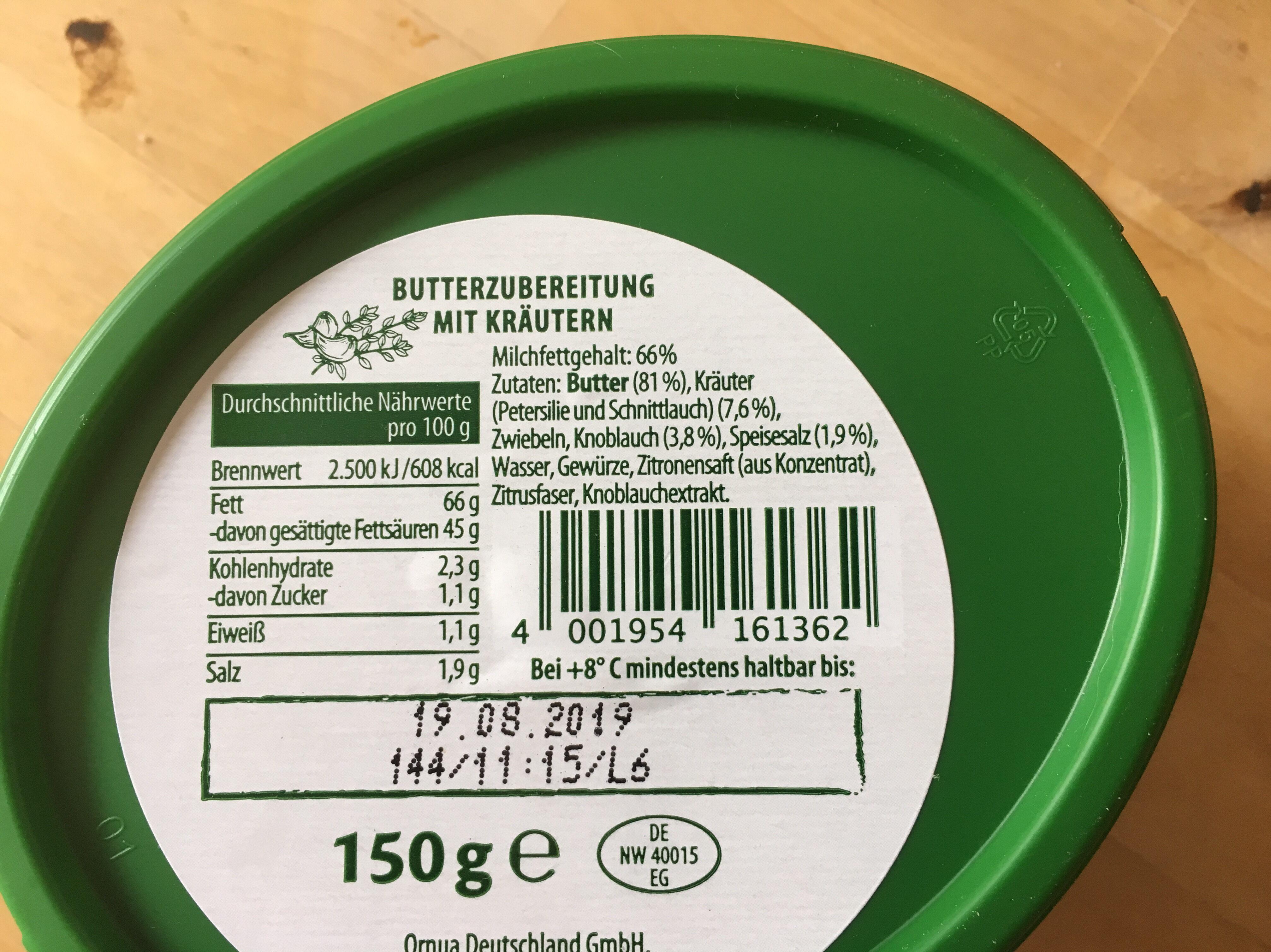 Kerrygold Kräuterbutter - Inhaltsstoffe