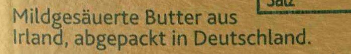Original irische Butter - Zutaten - de