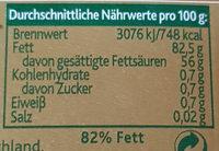 Original irische Butter - Nährwertangaben - de