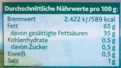 Kerrygold extra mit Meersalz - Informations nutritionnelles