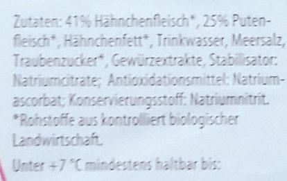 Bio Geflügel Lyoner - Ingrediënten - de
