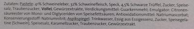 Trüffel-Leber-Pastete - Ingrediënten - de