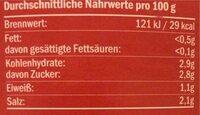 Pfefferoni mild - Informations nutritionnelles - de