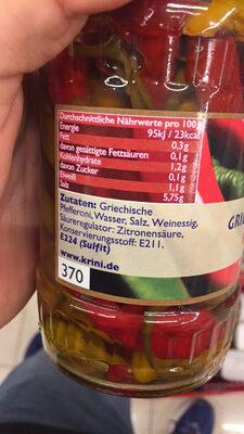 Krini Pepperoni à la grecque - Ingredients