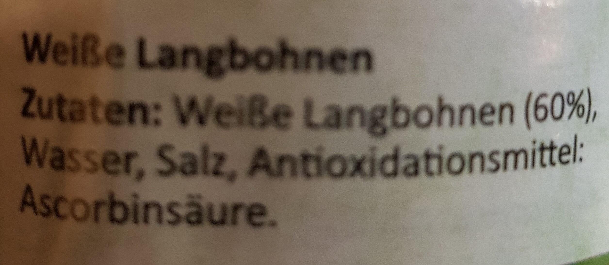 Weiße Langbohnen - Ingrediënten