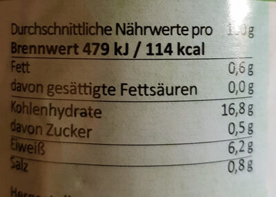 Weiße Langbohnen - Voedigswaarden