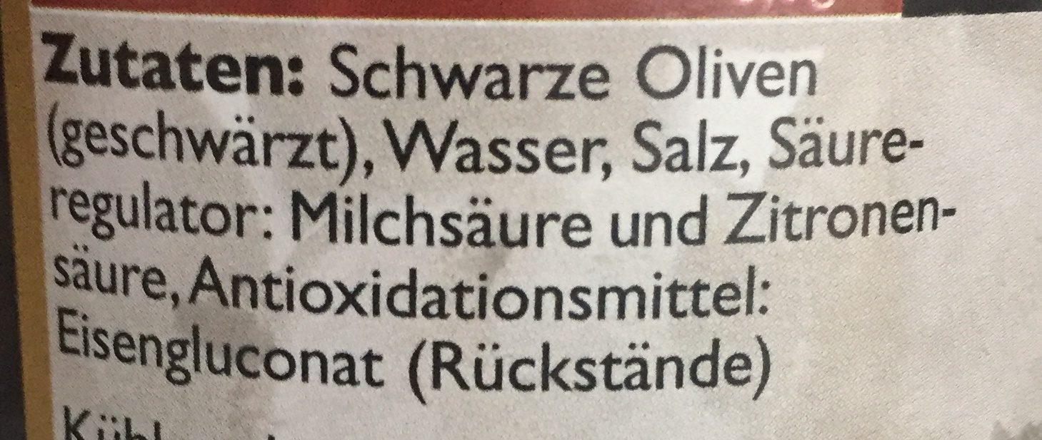 Krini Schwarze Oliven - Ingrédients - de