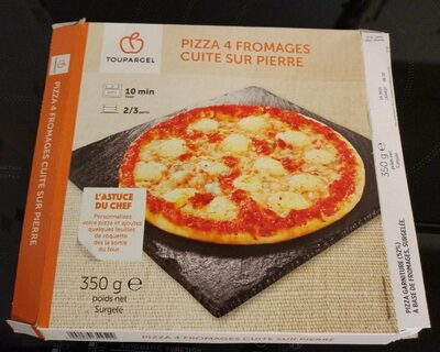 Pizza 4 fromages cuite sur pierre - Product - fr