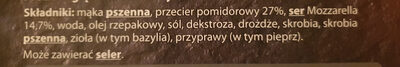 Pizza margherita - Składniki - pl