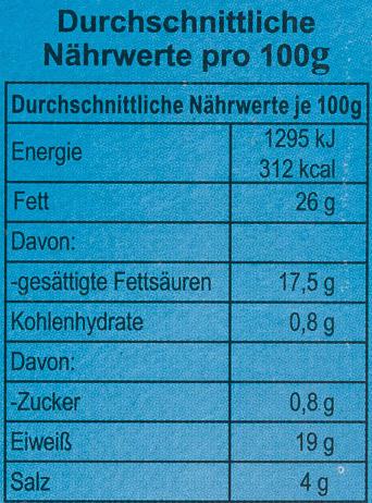 Grillkäse - Informations nutritionnelles - de