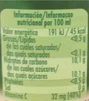 Néctar De Naranja Hecho Parcialmente A Partir De Concentrado - Información nutricional - es