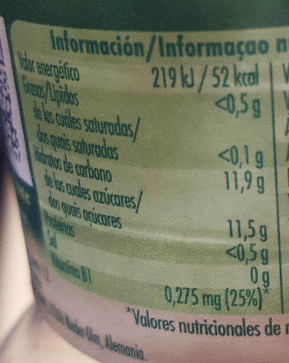 Suc Granini Cocktail Fruites - Informations nutritionnelles