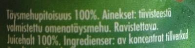 Äppeljuice - Ingrediënten