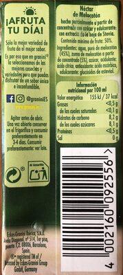 Néctar de melocotón - Informació nutricional - es
