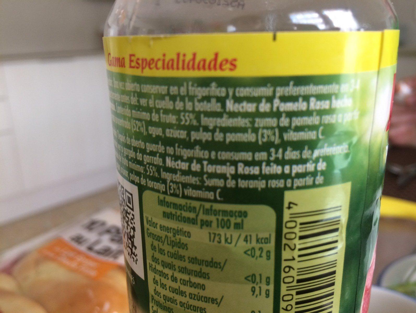 Jus de pomelo - Ingrediënten