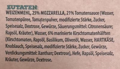 Papa Toni's Pizza Gigante Mozzarella - Inhaltsstoffe