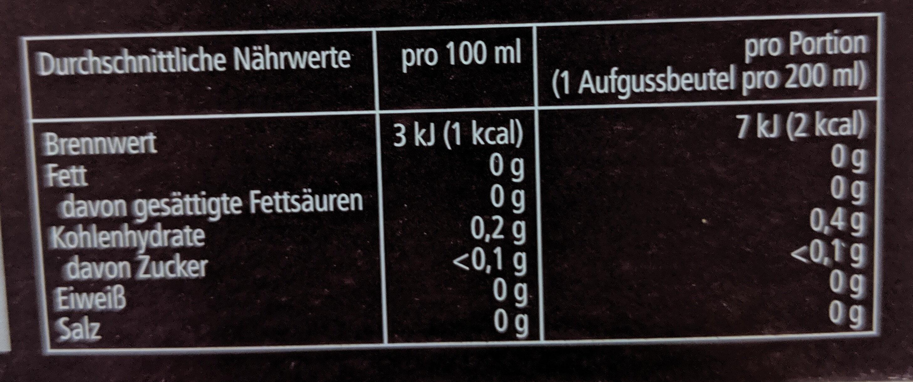 Feinster Ostfriesen-Tee - Nutrition facts - de