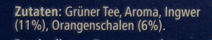 Grüner Tee Orange-Ingwer - Ingrediënten - de