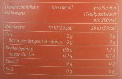 Blutorange - Voedingswaarden