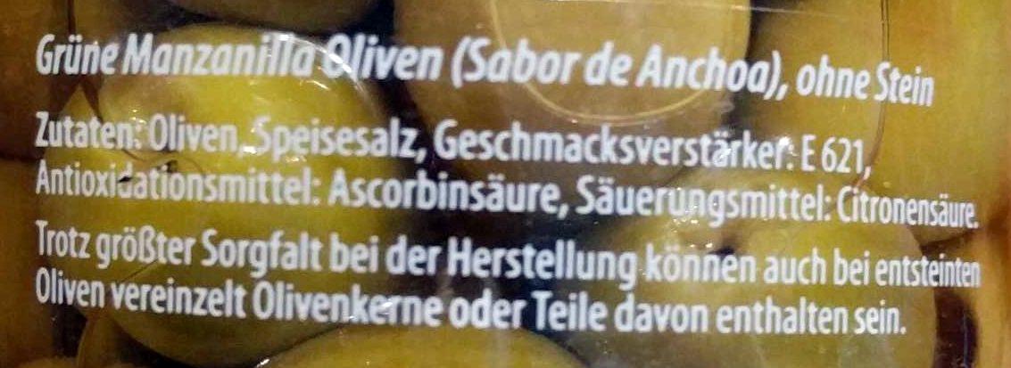 Oliva - Ingrediënten - de
