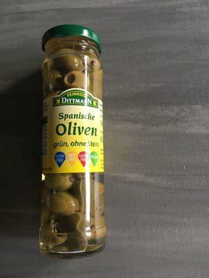 Spanische Oliven grün, ohne Stein - Produit