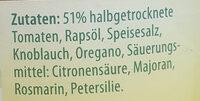 Halbtrockene Tomaten - Ingrédients - de