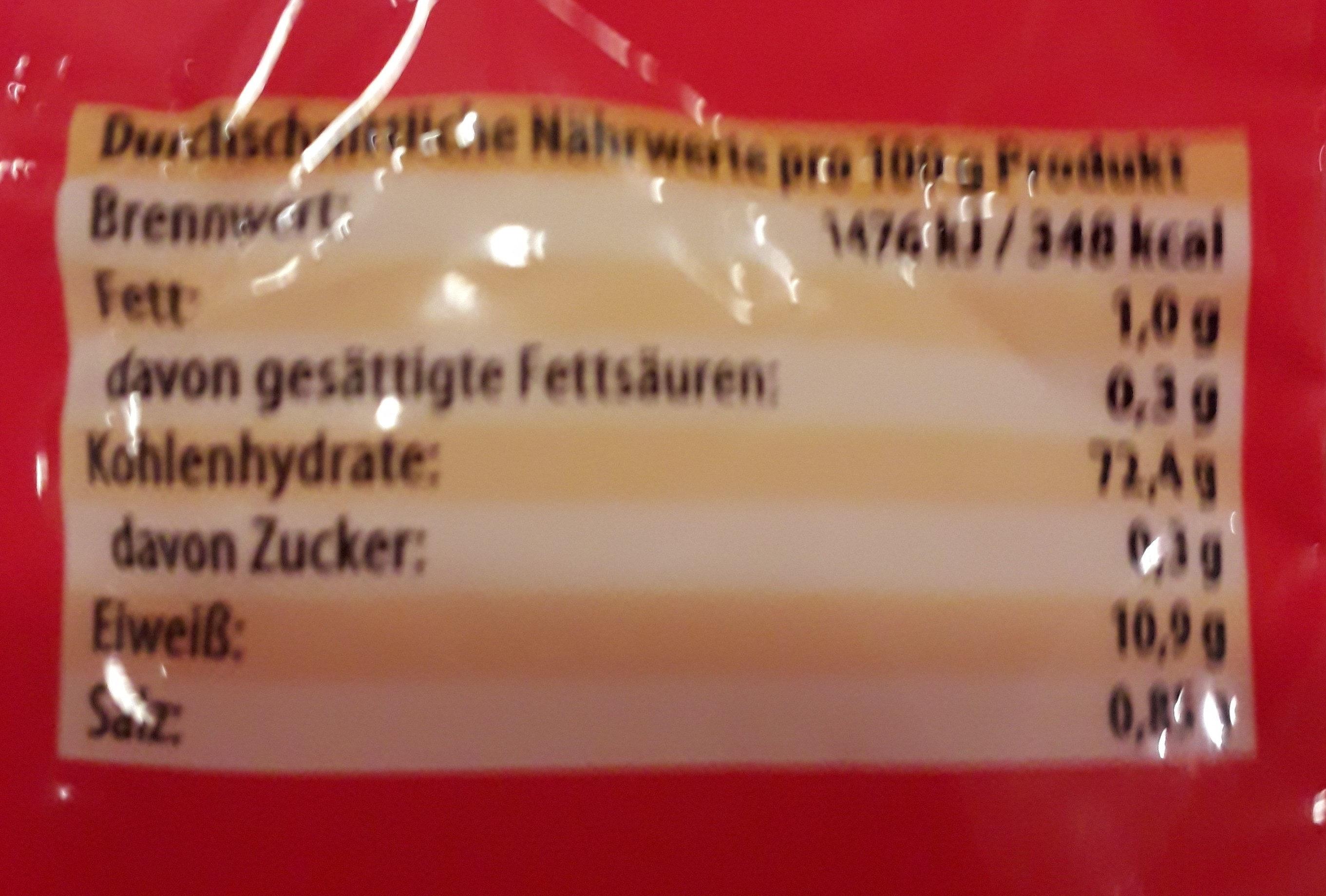 Mie-Nudeln - Voedingswaarden