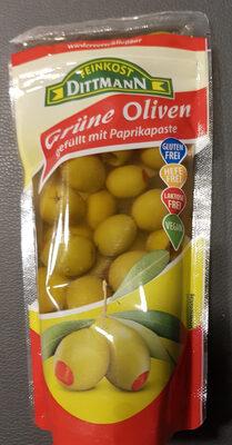 Grüne Oliven gefüllt mit Paprikapaste - Product - en