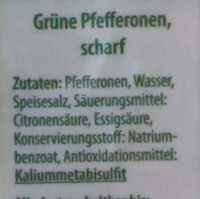 Grüne Pfefferonen - Ingredients - de