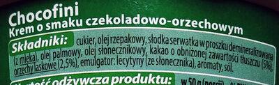Krem o smaku czekoladowo-orzechowym - Ingredients - pl