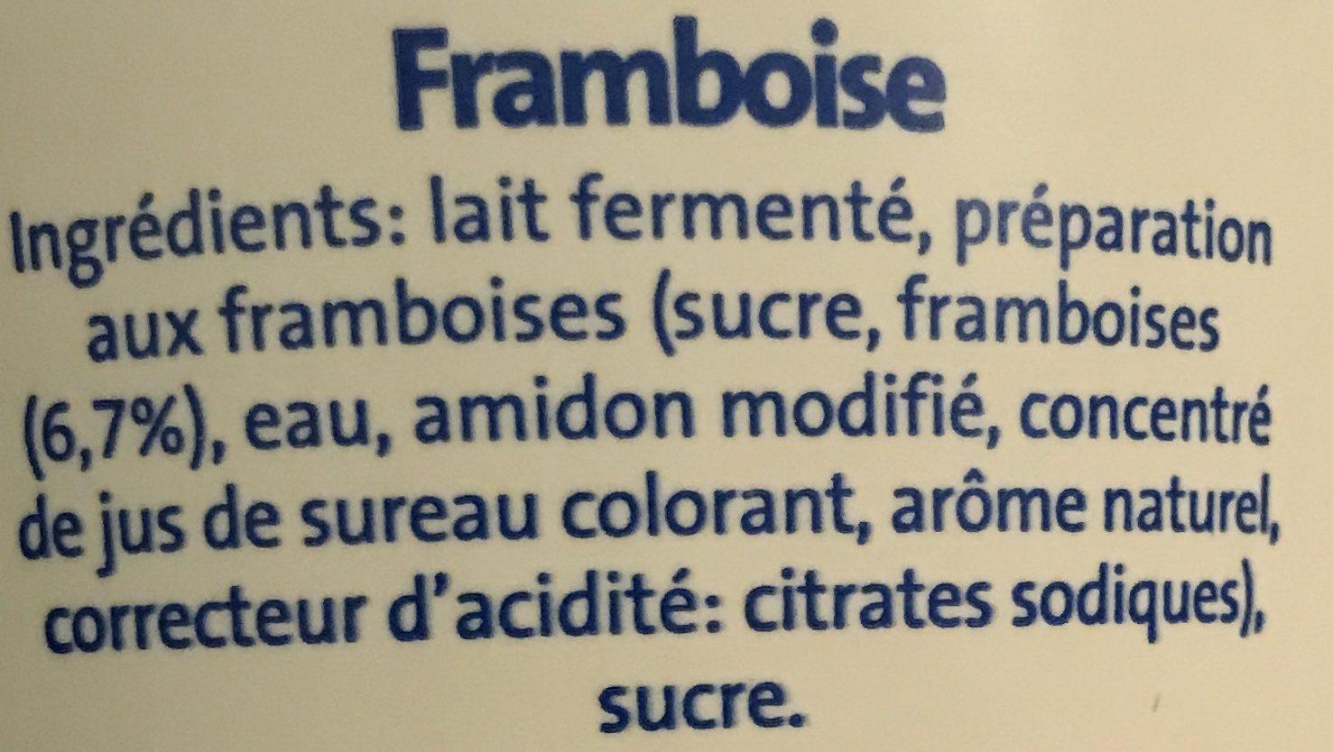 Bifidus aux fruits Framboise - Ingrédients - fr