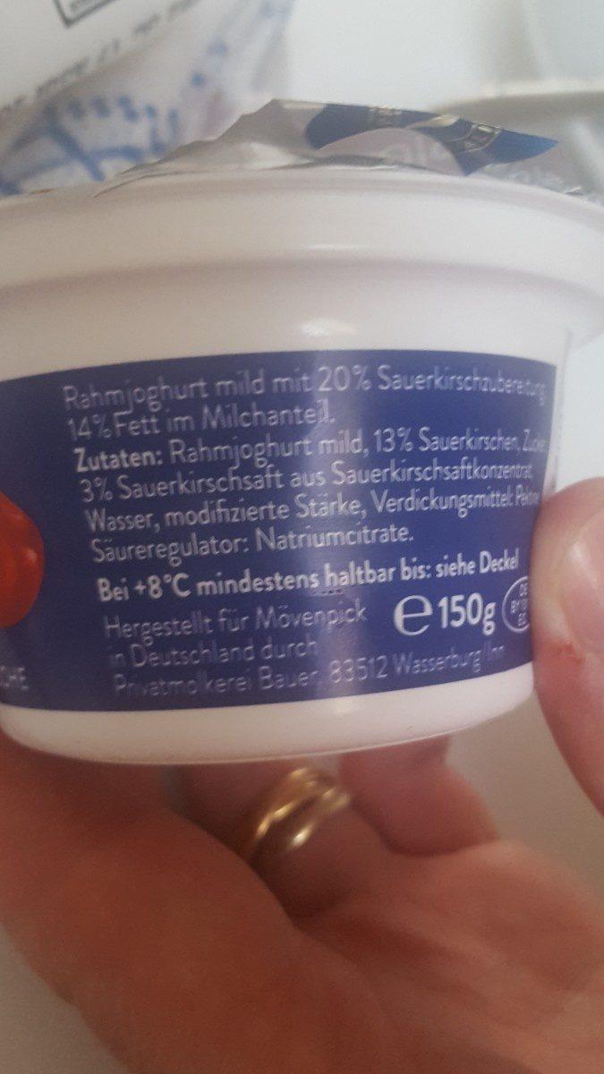 Feinjoghurt, Piemontkirsche - Ingredienti - fr