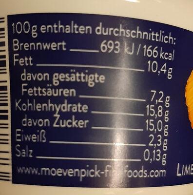 Feinjoghurt Limette-Mandarine - Voedingswaarden - de