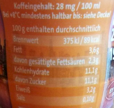 Sunset Caramel - Caffè Freddo - Informations nutritionnelles - de