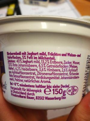 Birchermueslu - Ingredienti - de