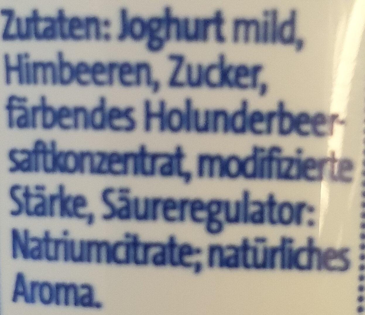 Der Kleine Bauer: Joghurt 100g Himbeer - Ingrediënten