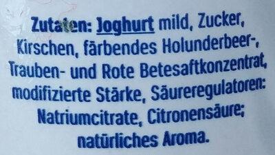 Joghurt mild mit 18% Kirschzubereitung (mit 40% Kirchen), 3,5% Fett im Milchanteil. - Ingredients