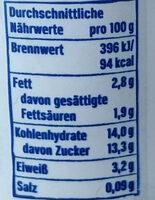 Joghurt mild mit 18% Kirschzubereitung (mit 40% Kirchen), 3,5% Fett im Milchanteil. - Nutrition facts