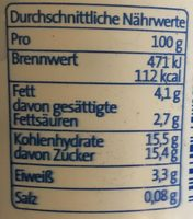 Der Grosse Bauer Vanille-Schokobälle - Nutrition facts