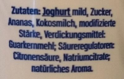 Der grosse Bauer Ananas-Kokos - Ingredients