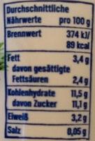 Der grosse Bauer Ananas-Kokos - Nutrition facts