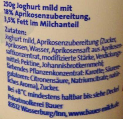 Der Grosse Bauer Aprikose - Ingrediënten - de