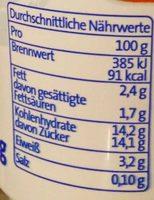 Der Grosse Bauer Aprikose - Voedingswaarden - de